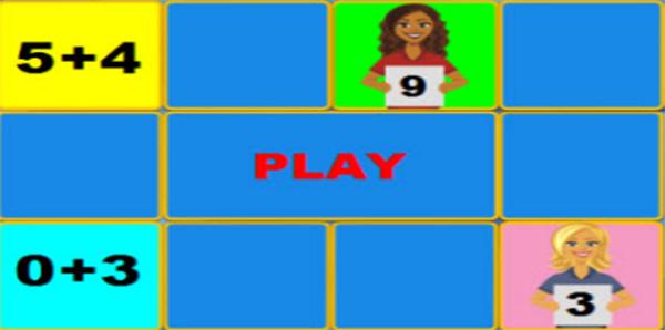بازی جمع اعداد یک رقمی