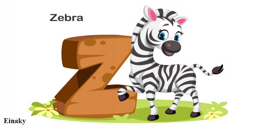 آموزش حرف Z زبان انگلیسی