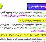 انواع جمله در فارسی ششم دبستان