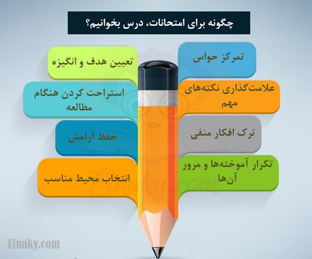 درس خواندن برای امتحانات
